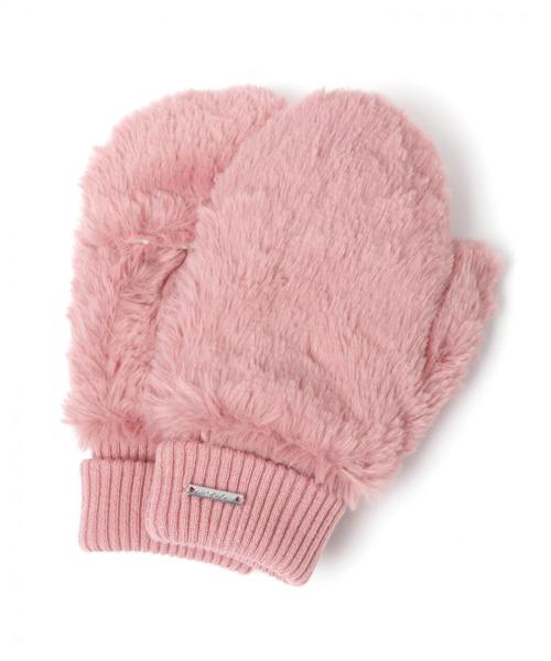 niko and...(ニコアンド)の「オリジナルフェイクファーミトン(手袋)」|ピンク