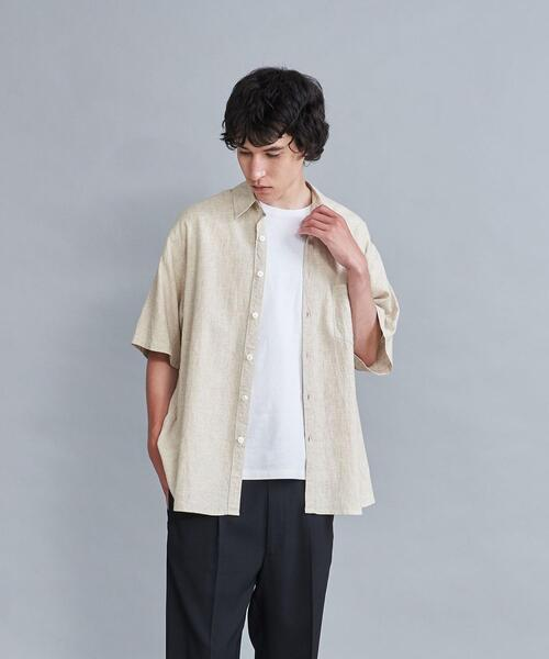 <Steven Alan> LEGGIUNO/LNN REVERSE SEAM SHORT SLEEVE SHIRT-LOOSE/シャツ