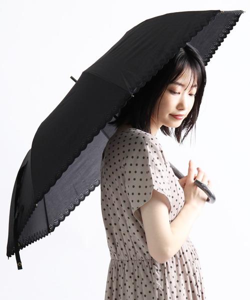 桜手元&裾刺繡ショートワイド傘 27381 SGT アンブレラ