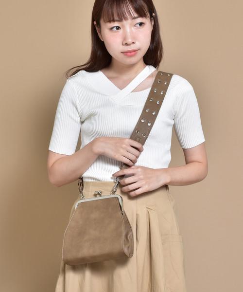 SVEC(シュベック)の「Gamaguchi Shoulder Bag / がま口 ショルダー バッグ(ショルダーバッグ)」 ベージュ