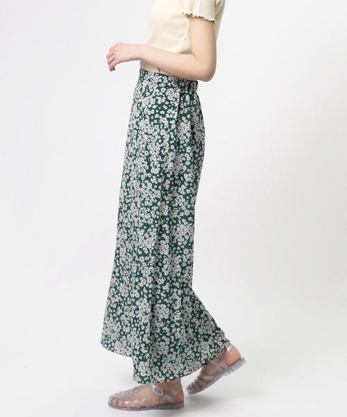 【ottilie/オティーリエ】フラワープリントマーメイドスカート