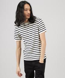 AVIREX(アヴィレックス)のavirex/アビレックス/メンズ/DAILY CREW NECK BORDER T-SHIRT/デイリー クルーネック ボーダーTシャツ(Tシャツ/カットソー)