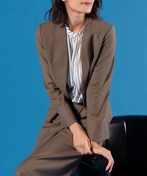 TRUDEA(トルディア)のウォッシャブル カラーレスジャケット(スーツジャケット)