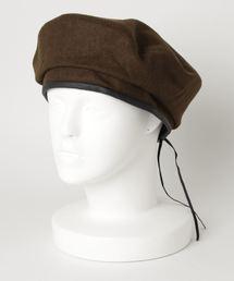 フェルトベレー帽ブラウン