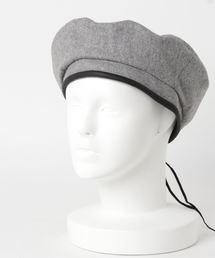フェルトベレー帽グレー