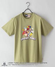 【LOONEY TUNES/ルーニー・テューンズ】別注 プリントTシャツオリーブ