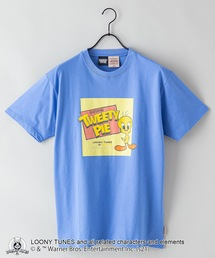 【LOONEY TUNES/ルーニー・テューンズ】別注 プリントTシャツブルー