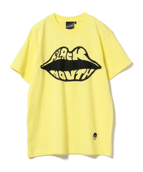 black humours(ブラックユーモア)の「BEAMS T/ Black Mouth Tee(Tシャツ/カットソー)」|イエロー