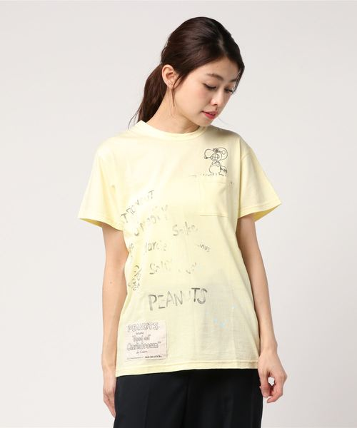 SNOOPY Vintage 1pkt T-shirts(FLYING ACE)/スヌーピー ヴィンテージ 1ポケット Tシャツ サーフ フライングエース