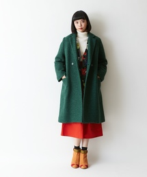 938d3b1a8c86b レディースのチェスターコート(グリーン・カーキ 緑色系)ファッション ...