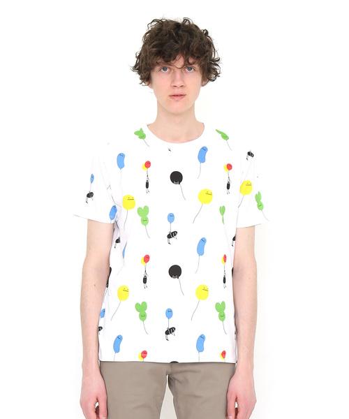 総柄Tシャツ/バルーンビューティフルシャドーパターン