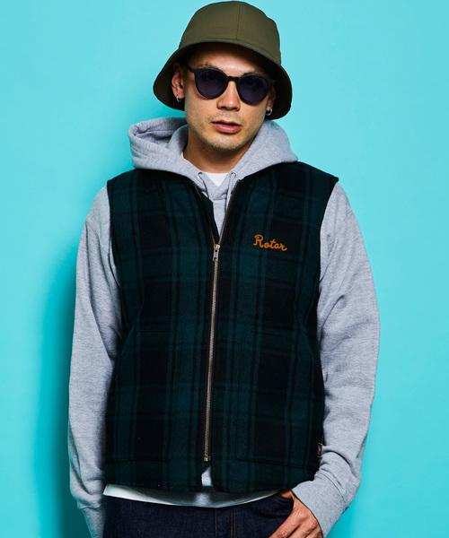 Oldies Flannel Work vest フランネル チェック ワーク ベスト