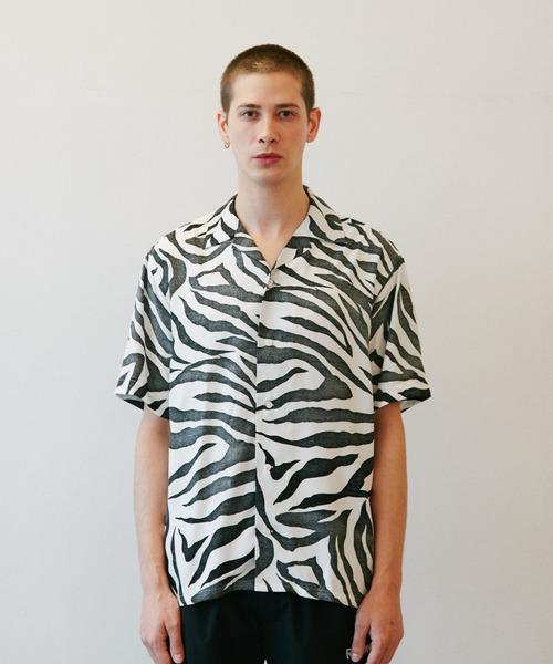 ROTTWEILER(ロットワイラー)の「Tiger Open Collar SS Shirts(シャツ/ブラウス)」|ホワイト
