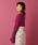 me&me couture(ミーアンドミークチュール)の「ハートネックモヘアコルセットニット(ニット/セーター)」 パープル