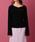 me&me couture(ミーアンドミークチュール)の「ハートネックモヘアコルセットニット(ニット/セーター)」 ブラック