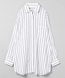 JEANASIS(ジーナシス)のストライプBIGシャツ/825139(シャツ/ブラウス)