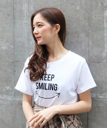 ECLIN(エクラン)のKEEP SMILING T/S(Tシャツ/カットソー)