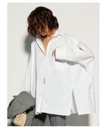 Mila Owen(ミラオーウェン)のポンチョ風ボリュームシャツ(シャツ/ブラウス)