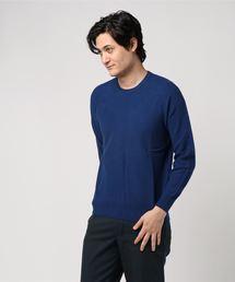 MORGAN HOMME(モルガンオム)のソリッドカラータック/クルーネックニット(Tシャツ/カットソー)