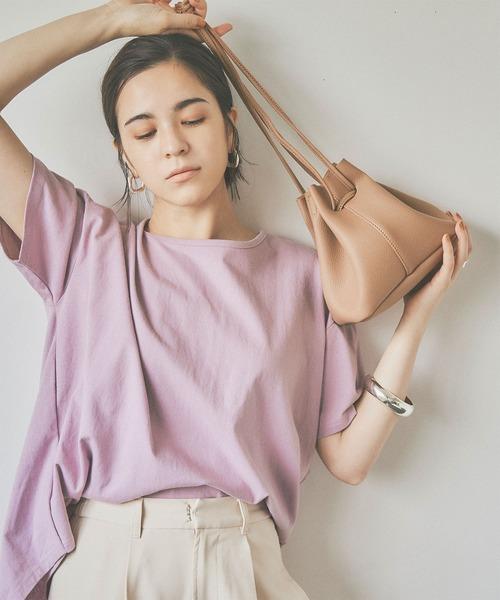 titivate(ティティベイト)の「2wayコンパクト巾着バッグ(ショルダーバッグ)」|ベージュ