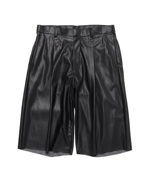 SPRING2021 LEATHER HALF PANTS