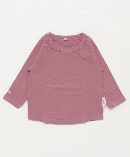 JIPPON(ジポン)の「ムジラグランロンT (rib−80〜140cm)(Tシャツ/カットソー)」 ライトパープル