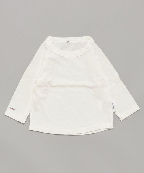 JIPPON(ジポン)の「ムジラグランロンT (rib−80〜140cm)(Tシャツ/カットソー)」|オフホワイト