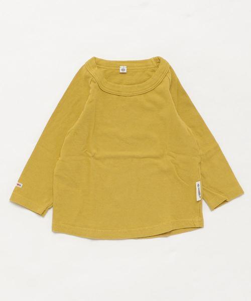 JIPPON(ジポン)の「ムジラグランロンT (rib−80〜140cm)(Tシャツ/カットソー)」|マスタード