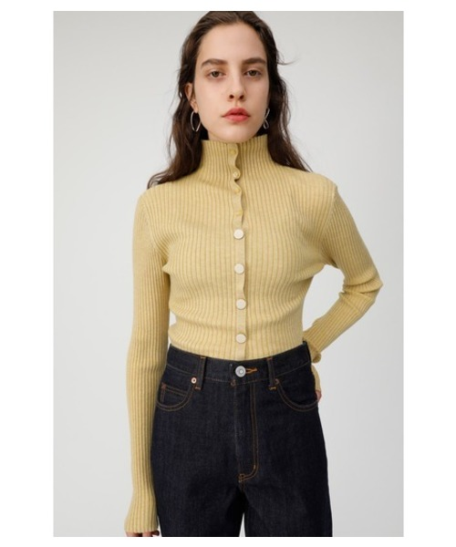 2WAY BUTTON KNIT TOP