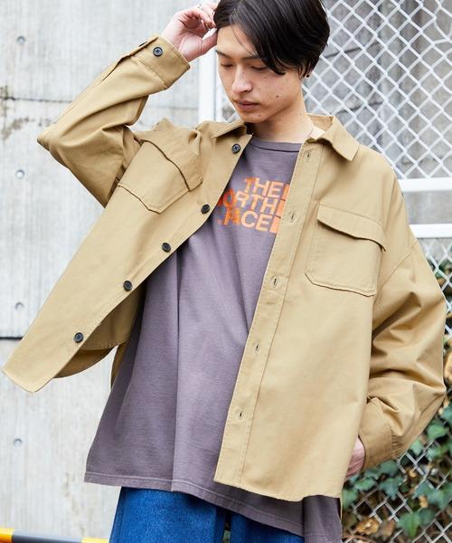 【ユニセックスで着用可能!/10色展開】ツイル CPOシャツ/オーバーサイズシャツ/シャツジャケット/セットアップ可
