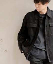 【ユニセックスで着用可能!】ツイル コーデュロイ CPOシャツ/オーバーサイズシャツ/シャツジャケット/セットアップ可ブラック系その他2