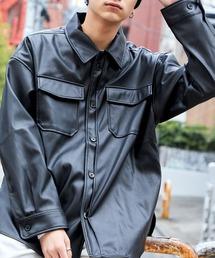 【ユニセックスで着用可能!】ツイル コーデュロイ CPOシャツ/オーバーサイズシャツ/シャツジャケット/セットアップ可ブラック系その他4