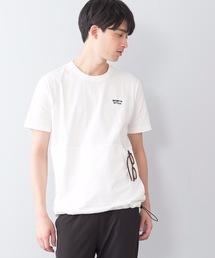ユーティリティーTシャツ ポケット付き ドローコード付きホワイト