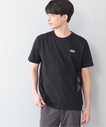 ユーティリティーTシャツ ポケット付き ドローコード付きブラック