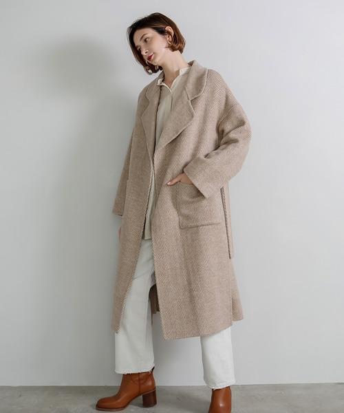 【chuclla】【2020/AW】 Australia wool herringbone coat sb-2 cb-1 chw1327