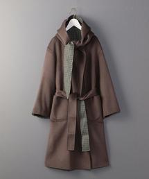 <6(ROKU)>HOOD REVER GOWN COAT/コート