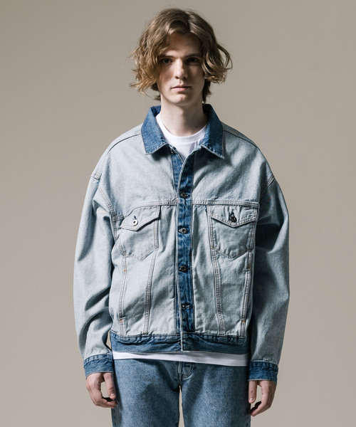 Levi's Made & Crafted(リーバイスメイドアンドクラフテッド)の「LEVI'S(R) MADE & CRAFTED(R) TYPE IIIデニムジャケットABOUT FACE(デニムジャケット)」|ライトインディゴブルー