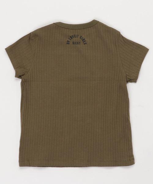 首元クロス半袖Tシャツ
