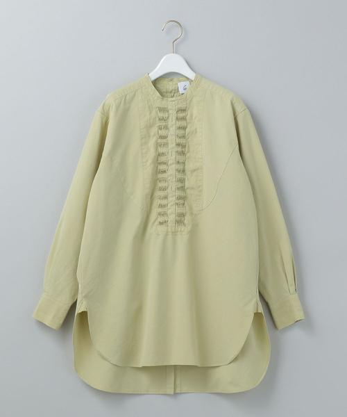 <6(ROKU)>PIN TUCK SHIRT/シャツ