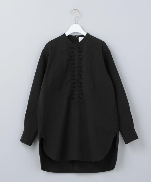 <6(ROKU)>PIN TUCK SHIRT/シャツ