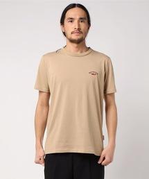 ドライ機能付き ワンポイント刺繍Tシャツ 速乾性ベージュ
