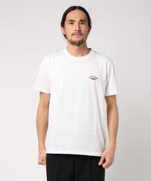 ドライ機能付き ワンポイント刺繍Tシャツ 速乾性ホワイト系その他