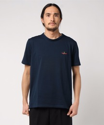 ドライ機能付き ワンポイント刺繍Tシャツ 速乾性ネイビー