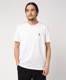 ドライ機能付き ワンポイント刺繍Tシャツ 速乾性ホワイト