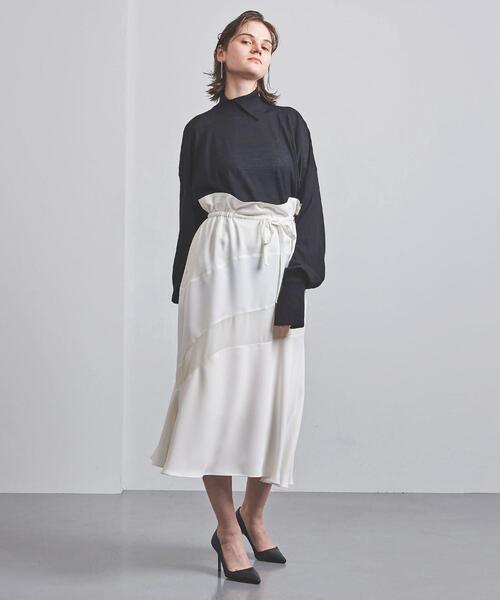 <AKIRA NAKA(アキラ ナカ)>ドローストリング スカート ■■■