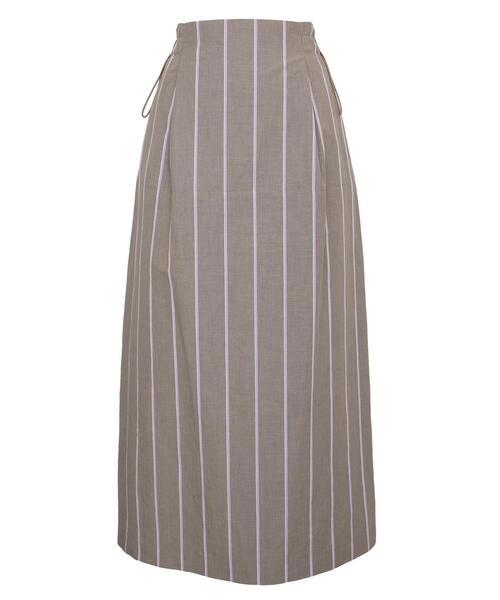 Drawer オルタネイトストライプスカート
