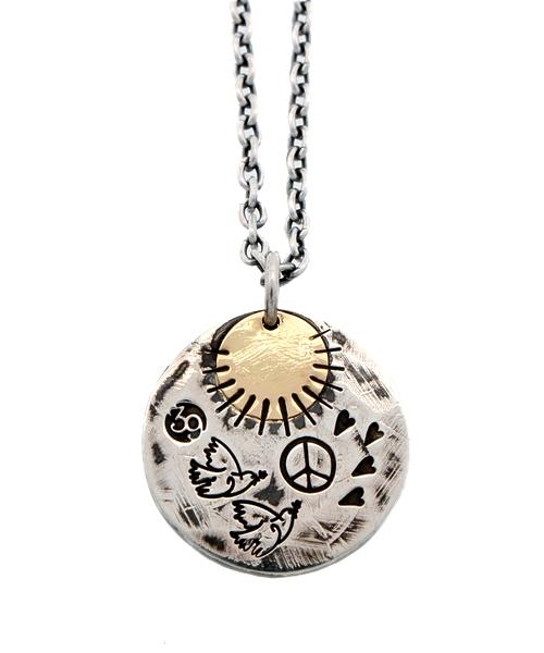 ファッション Love&Peace Plate Necklace, 尾鷲市 a60bf707