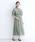 merlot plus(メルロープリュス)の「総レースパフスリーブチャイナボタンワンピース8184(ドレス)」|ライトグリーン