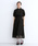 merlot plus(メルロープリュス)の「総レースパフスリーブチャイナボタンワンピース8184(ドレス)」|ブラック