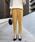 PICCIN(ピッチン)の「【WEB限定】ワンタックハイウエストテーパードパンツ(パンツ)」|マスタード
